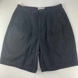 Men's Roundtree & Yorke 32 Black Shorts Pleated